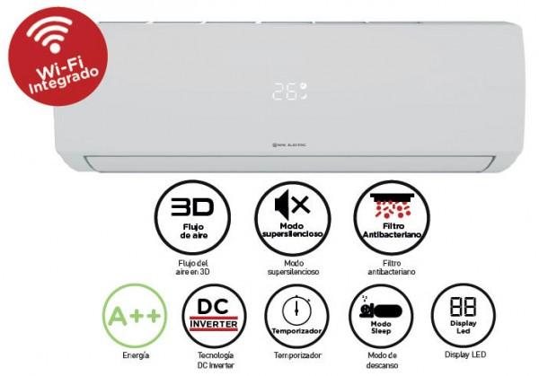 Aire Acondicionado EAS ELECTRIC PREMIUM 25 EMX25K  A++ WIFI