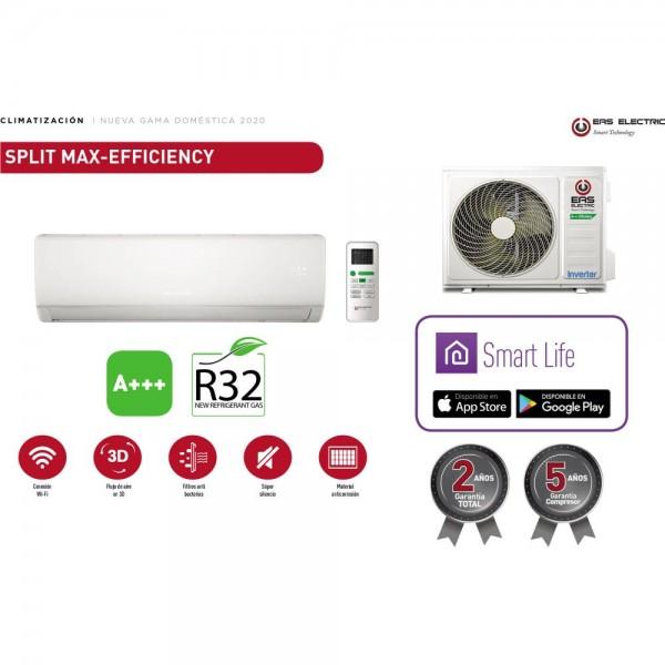 CJTO SPLIT EAS R32 MAX-EFFICIENCY CLASE A+++ WIFI 3000 FRIGORIAS