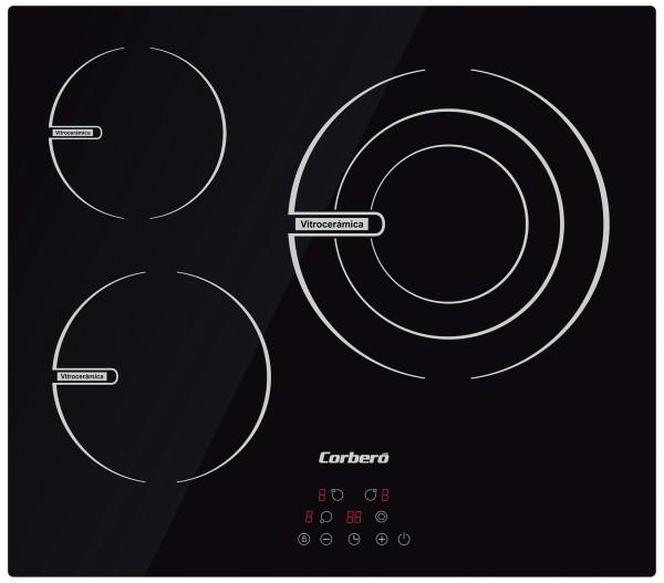 Vitrocerámica Corbero CCVBR6350 3 zonas 5700W