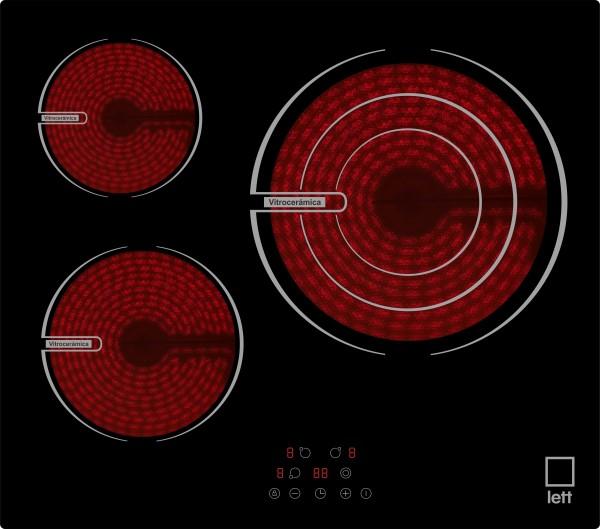 Vitroceramica LETT VI330 3 zonas  Touch control