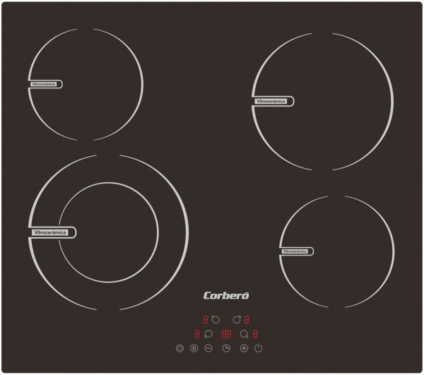 Placa vitrocerámica Corberó 4 Fuegos  CCV BR 645