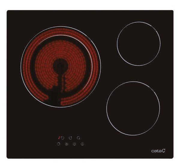 Cata 08063403 - Placa Vitrocerámica TD 6003 3 Zonas 59 cm
