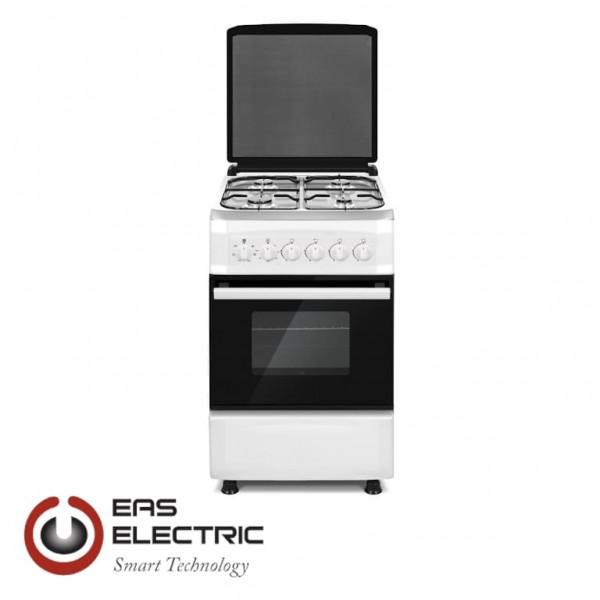 COCINA DE GAS EAS ELECTRIC 4 FUEGOS 87X50X58,2CM BLANCO - ENCIMERA INOX Ref. EFG556W
