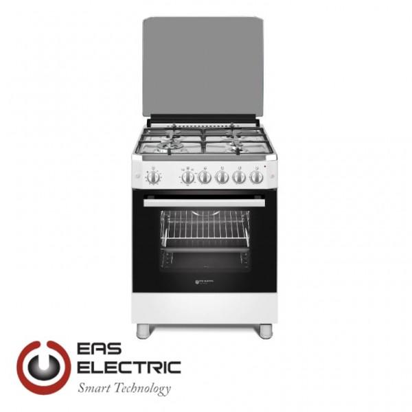 COCINA DE GAS EAS ELECTRIC 4 FUEGOS WOK PARRILLAS DE FUNDICION 89X59,7X63CM Ref. EFG660W
