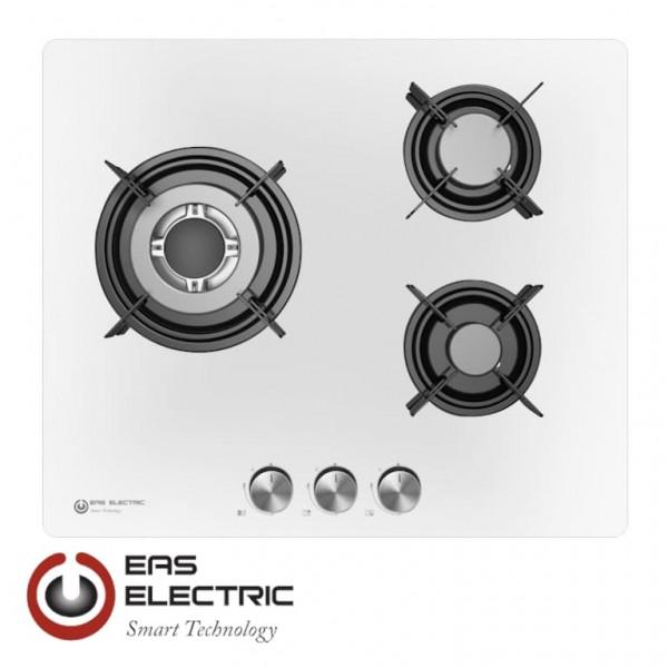 ENCIMERA CRISTAL BLANCA EAS ELECTRIC EMH363CGBW 3 FUEGOS