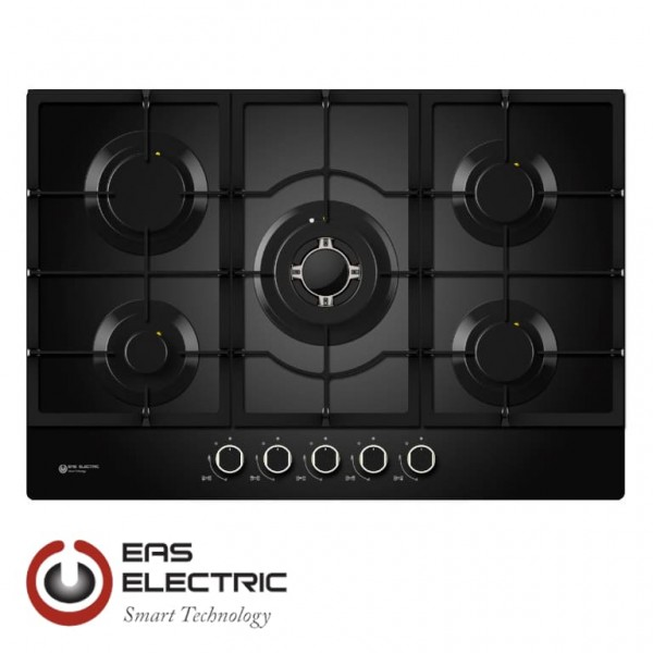 ENCIMERA CRISTAL NEGRA EAS ELECTRIC EMH750CGB 5 FUEGOS