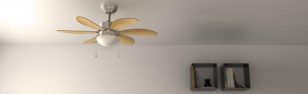 Ventilador de techo con luz FORCESILENCE AERO 350