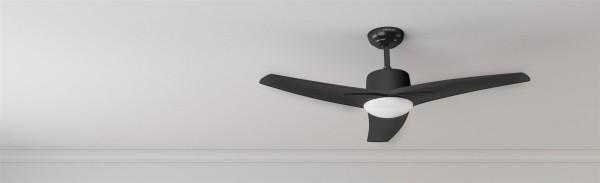 Ventilador de techo con luz y mando a distancia FORCESILENCE AERO 470