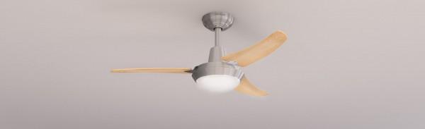 Ventilador de techo con luz y mando a distancia FORCESILENCE AERO 480