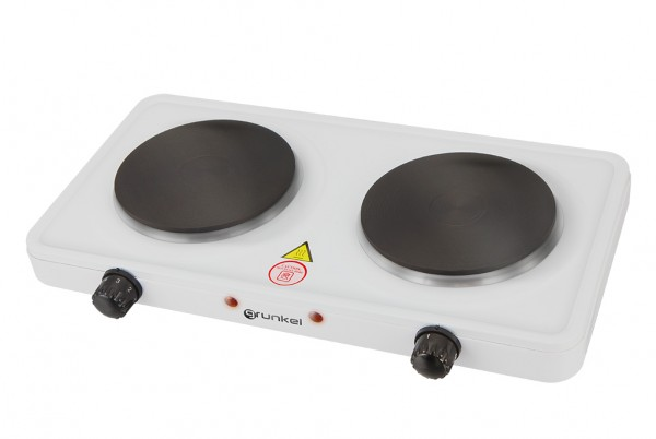 GRUNKEL EHP-215 Hornillo eléctrico de mesa de doble placa. 1000W + 1000W