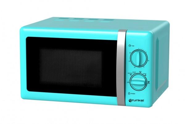 GRUNKEL MW-20AF Microondas de color azul de 20L de capacidad.