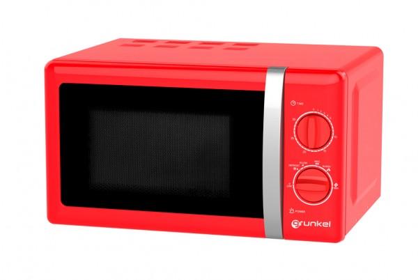 GRUNKEL MW-20RF Microondas de color rojo de 20L de capacidad.