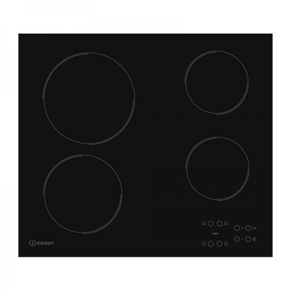 Vitrocerámica Indesit RI 161 C ES Eléctrica Canto Recto Negro