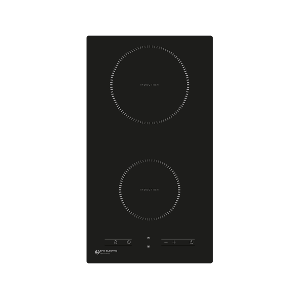 Placa de inducción 30 cm 2 zonas de cocinado EMIH030-2F