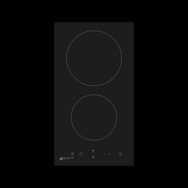 Vitrocerámica 30 cm 2 zonas de cocinado EMCH029-2F