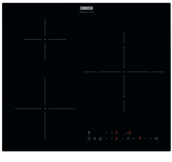 Zanussi ZITX633K  Placa de inducción 3 zonas Power Zona doble 28cm